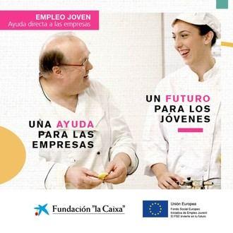 """Nueva convocatoria del Programa Empleo Joven de ayudas directas a empresas.Fundación """"la Caixa"""""""