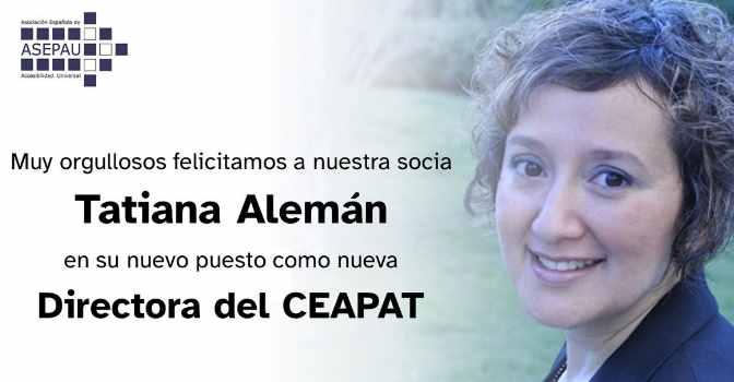 Tatiana Alemán, nueva directora gerente del CEAPAT