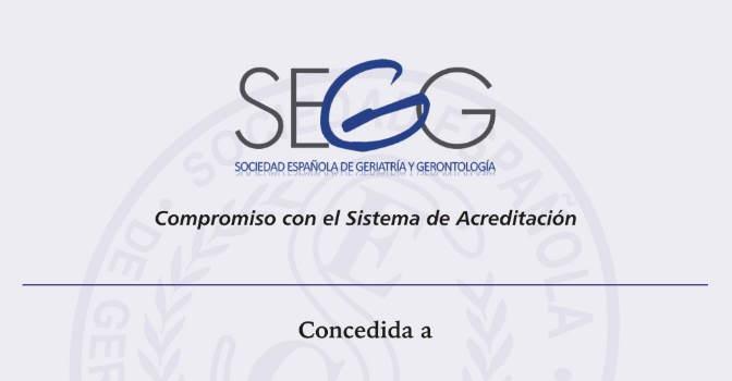 Ministerio de Sanidad avala sistema de acreditación de la calidad asistencial de la Sociedad Española de Geriatría y Gerontología (SEGG).