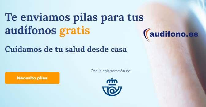 Audifono.es lanza una campaña para enviar pilas de audífonos gratis a domicilio.