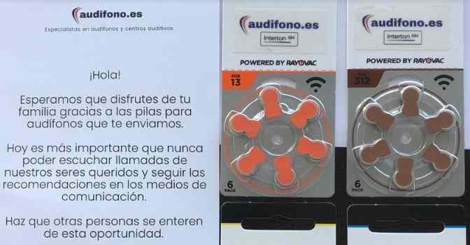 UDP se suma a la campaña solidaria de Audifono.es para donar pilas de audífonos a domicilio.