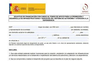 El Fondo de Apoyo a la Dependencia mantiene abierta la recepción de proyectos hasta el 10 de septiembre