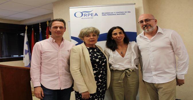 De izquierda a derecha, Álvaro Recio, Victoria Pérez, María José Tejeda y Javier Martínez Peromingo, formadores en el segundo curso de la Cátedra ORPEA 2018.