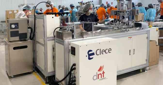 Clece fabricará 55.000 mascarillas al día para sus empleados y será la primera empresa de España con capacidad para autoabastecerse.