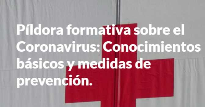 Cruz Roja imparte un curso gratuito sobre el coronavirus.