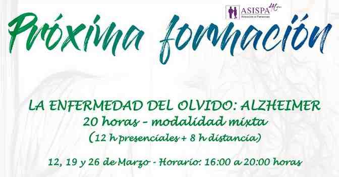ASISPA lanza un curso sobre Alzheimer