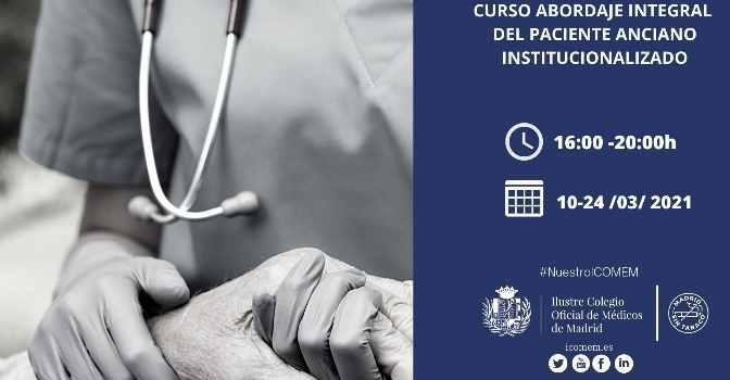 Curso sobre paciente anciano institucionalizado con AMADE y el Colegio de Médicos de Madrid