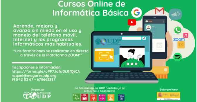 Cursos gratuitos de informática para personas mayores.