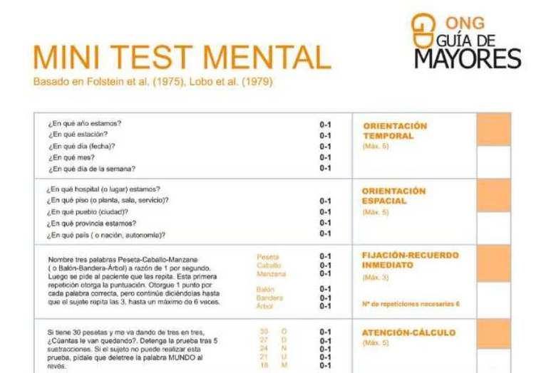 El rincón de la ONG Test Alzheimer gratuito