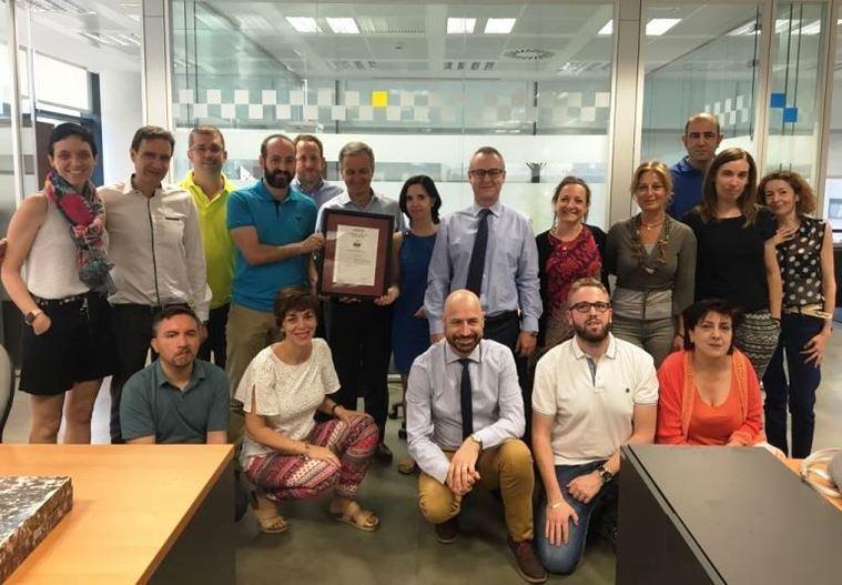 Ilunion Sociosanitario logra el primer certificado Empresa Saludable de AENOR del sector