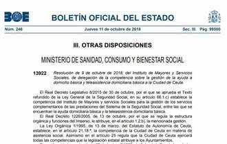 Ceuta y Melilla asumen ayuda a domicilio y teleasistencia por delegación del Imserso