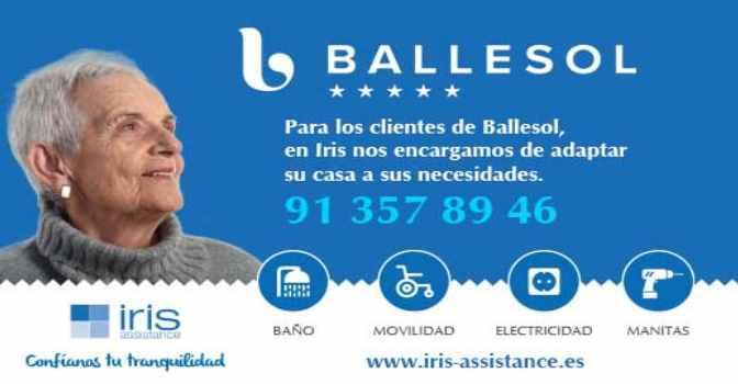 Iris Assistance y Ballesol se unen para mejorar el bienestar de los mayores en su hogar.