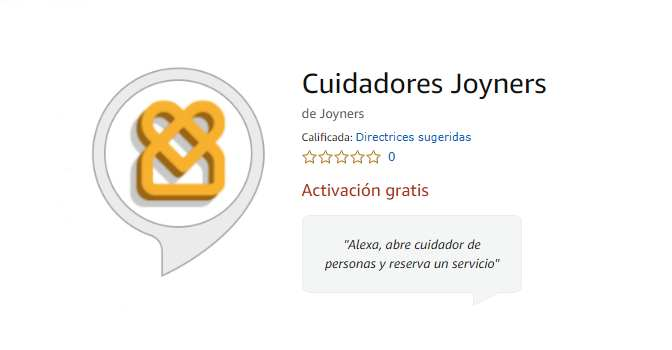 Joyners ya permite contratar cuidadores a domicilio a través de los dispositivos inteligentes de Amazon dotados con su asistente virtual, Alexa.