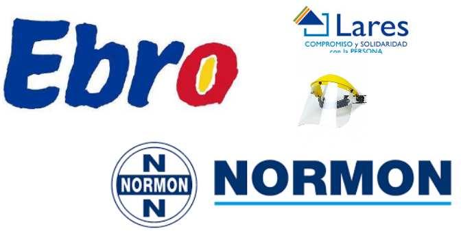 Lares recibe donaciones de Ebro Foods y Laboratorios Normon de material sanitario para residencias de mayores.
