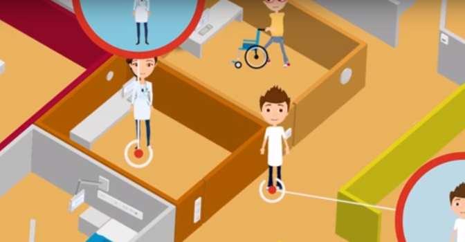 El sistema de localización en interiores de Ibernex usa tecnología de radiofrecuencia.