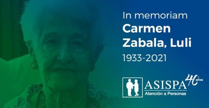 Muere Carmen Zabala, fundadora de ASISPA