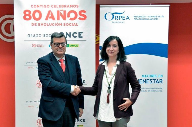 Orpea firma un convenio Inserta con la Fundación ONCE suscrito por Asunción Zaragoza y José Luis Martínez Donoso