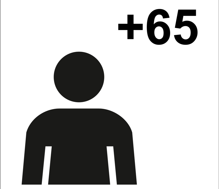 Nuevo símbolo gráfico de mayores de descarga libre para señalizar sus espacios
