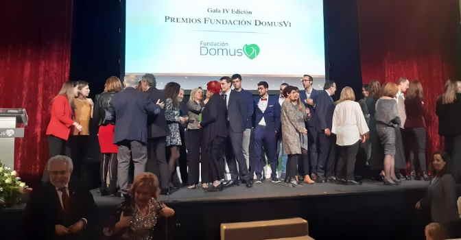 Decenas de personas asistieron a la gala de entrega de la IV edición de los Premios de la Fundación DomusVi.