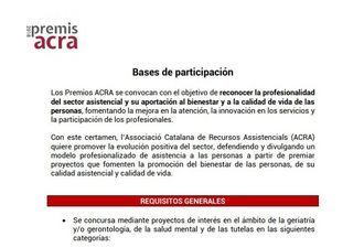 ACRA convoca sus Premios 2018 de reconocimiento a la profesionalidad en el sector