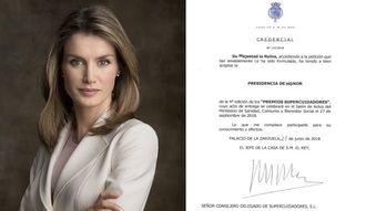 Los Premios Supercuidadores cierran el 31 de julio el plazo de admisión de candidaturas con la Presidencia de Honor de la Reina Letizia