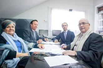 II Congreso Gestión de la Dependencia con (de izda. a dcha.) Pilar Rodríguez, Ángel Rodríguez Castedo, César Antón y José María Pastor en el Comité Director