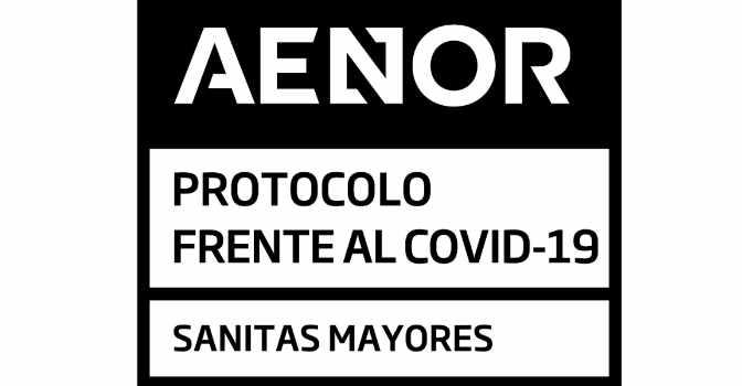 AENOR certifica las residencias de mayores de Sanitas como centros seguros y protegidos de COVID-19.