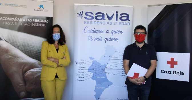 Cruz Roja y Savia prestarán apoyo emocional a personas con enfermedades avanzadas.