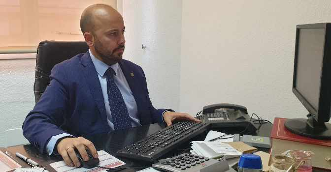 Sergio Mella es director general de Edad Dorada, las residencias de mayores de Mensajeros de la Paz.