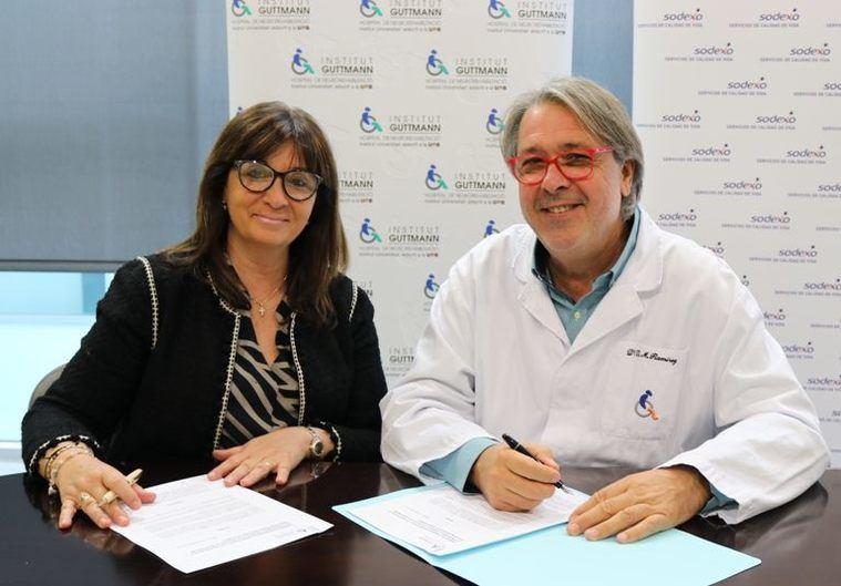 Sodexo e Institut Guttmann acuerdan estudiar nutrición y enfermedades neurológicas