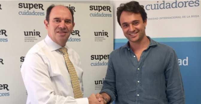 De izquierda a derecha, Aurelio López-Barajas, CEO de Supercuidadores, y Pablo Otero, fundador de Báculum.