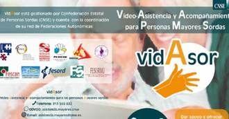 VidAsor servicio de Vídeo-Asistencia y Acompañamiento para personas mayores sordas