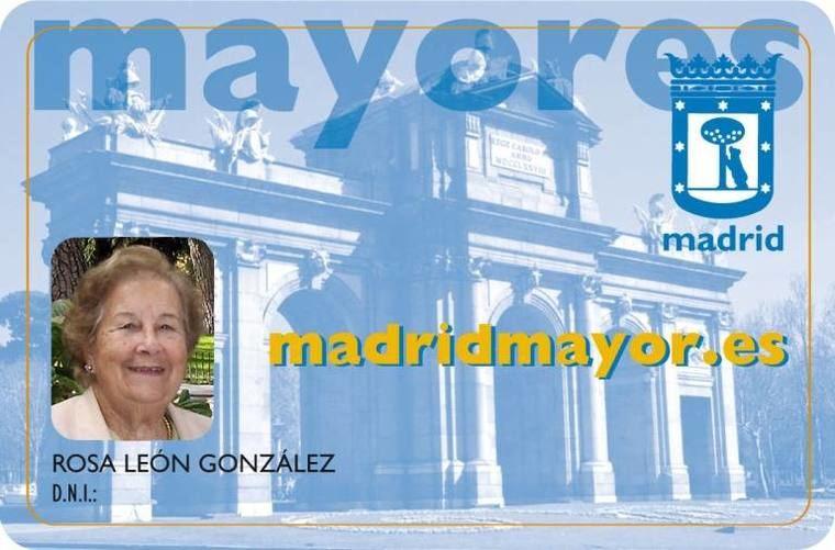 Visto en Internet Solicitud de la tarjeta 'madridmayor.es'