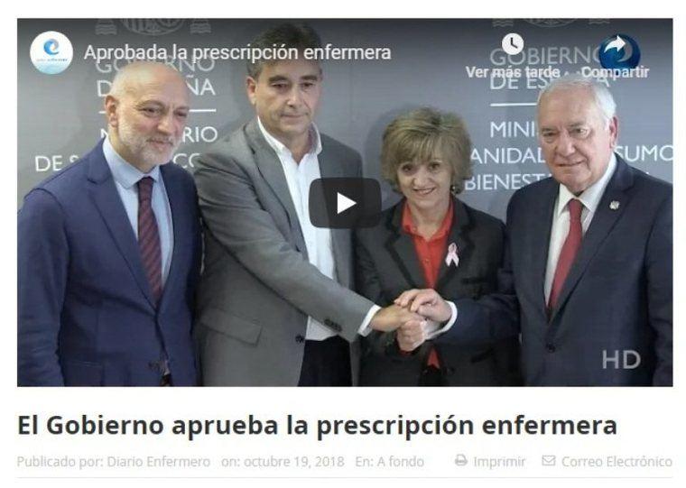 El Gobierno aprueba la prescripción enfermera, una reivindicación histórica