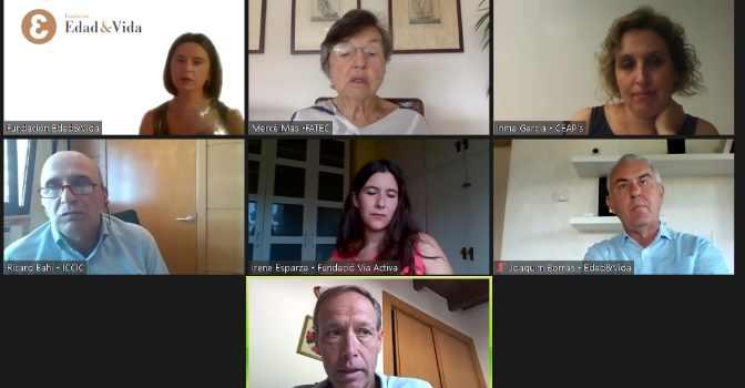 Fundación Edad&Vida organiza un webinar sobre cuidados de larga duración